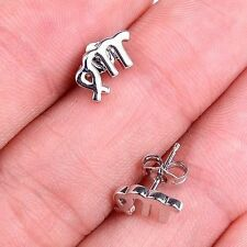 Fashion Gracious Virgo Zodiac 925 Sterling Silver Stud Earrings Jewelry - M416