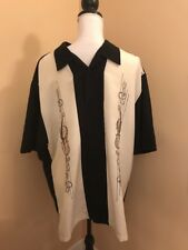 Cubavera XL Button Down Guitar Music Notes Dress Shirt