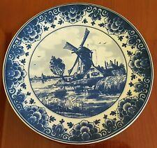 "Vintage Bosman Delft Blue Handpainted Holland Decorative Plate Windmill 7 1/4"""