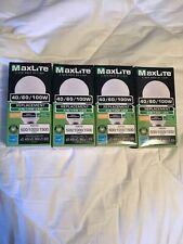 (Lot of 4) Maxlite 3 Way LED Bulb 40 60 100 Watt Replacement 4/8/14W Warm 2700K