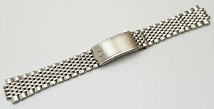NEW 18MM BEAD OF RICE SOLID STAINLESS STEEL GENTS WATCH STRAP FOR OMEGA NO LUGS