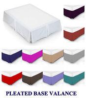 Plain Dyed Poly Cotton Platform Base Valence Box Pleated Sheet Different Sizes