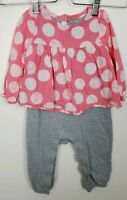 DISNEY STORE PINK DUMBO DRESS SLEEVELESS  AND PASTEL DOTS LEGGINGS