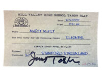 James Tolkan Christopher Lloyd autographed Tardy Slip Back To The Future PSA COA