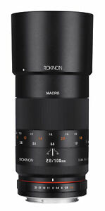 Rokinon 100mm F2.8 Full Frame Macro Lens (Nikon F with Automatic Chip)