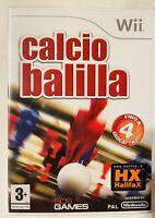 CALCIO BALILLA NINTENDO WII GIOCO Completo ITALIANO NUOVO DI ZECCA SIGILLATO PAL