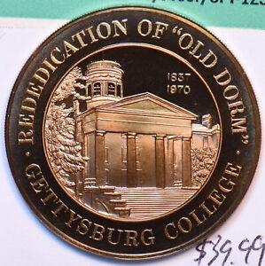"1969 Medal Proof Gettysburt College ""Old Dorm"" Rededication 490564 combine shi"