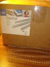 30 Pack Thirty Premium GBC Color Coil Spines Clear Spiral 16mm 9665073G  new