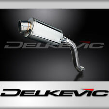 Delkevic Aftermarket Slip On compatible with Suzuki SV650 13.5 Titanium XOval Muffler Exhaust 17-19