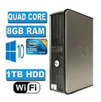 FAST DELL QUAD CORE  WINDOWS 10 WIFI 8GB RAM 1000GB HDD 19 inches fullset