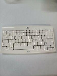Nintendo Wii Logitech Wireless Keyboard with USB dongle - KG-0802 - WORKS