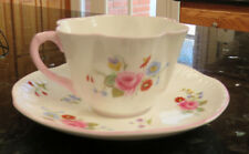 Shelley Fine Bone China Cup & Saucer Set * Rose & Red Daisy * 13425 * England