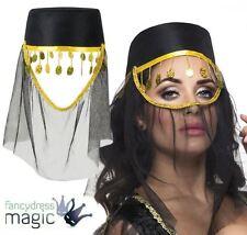 *Ladies Bollywood Belly Dancer Jasmine Arabian Princess Fancy Dress Costume Hat*