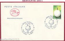 ITALIA FDC IL CAVALLINO SPORT IL GOLF 1988 ROMA FILATELICO Z540