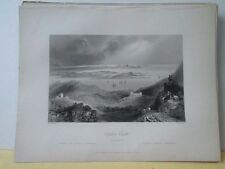 Vintage Print,CLIFDEN CASTLE,Scenery of Ireland,Bartlett
