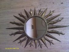 ANTIQUE/VINTAGE METAL Starburst Mirror Beautiful / GOLD COLORS