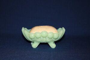 Jadeite Eyewinkler Soap Dish by Mosser Glass