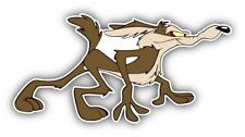 Wile E. Coyote Walking Cartoon Car Bumper Sticker Decal 5'' x 3''