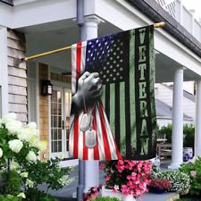 Us Veteran United States Army Veteran America Flag House Flag Wall Flag