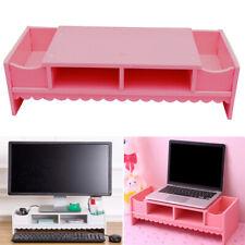 Desktop Desk PC Laptop Computer Monitor Riser Stand Organizer Rack Shelf