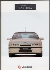 Vauxhall Calibra 1991-92 UK Market Sales Brochure Turbo 4x4 2.0 16v 8v