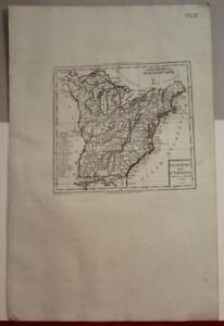UNITED STATES 1803 TARDIEU UNUSUAL ANTIQUE ORIGINAL COPPER ENGRAVED MAP