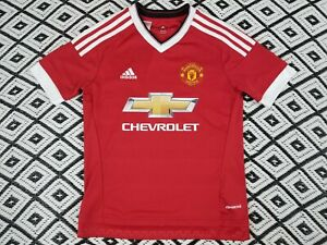 Manchester United Soccer Futbol Jersey Chevy Chevrolet Adidas Youth Medium Red