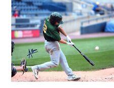 Austin Beck Signed 8x10 photo Autographed Oakland A's Beloit Snappers COA c