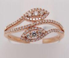 14k ROSE GOLD DIAMOND NEW FASHION ORNATE RING