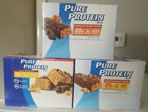 Lot of 3 boxes Pure Protein Bars, Chocolate Variety Pack 18 BARS Total Exp 6/21