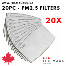 20 Pack - PM2.5 Face Mask Filters