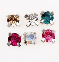 200pcs Rhinestone Crystal Metal Base Sew on Beads 4mm For Cloth Embellishments