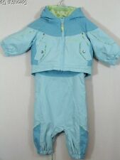 COLUMBIA Santa Peak set coat snowsuit pants blue girls size 6 mos NWT NEW