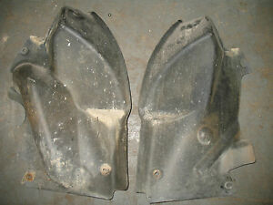 2003 BOMBARDIER 03 CAN-AM QUEST 650 4X4 FRONT UNDER SIDE ENGINE COVER FENDER SET