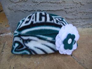 Philadelphia Eagles Fleece Flower Hat -Newborn Baby Girls,Children & Adult Women