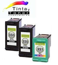 3 cartuchos de Tinta Compatibles Non-Oem XL HP 350 XL + HP 351 XL