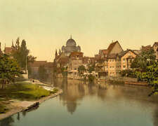 NUREMBERG SYNAGOGUE BAVARIA GERMANY 8X10 PHOTO 1900
