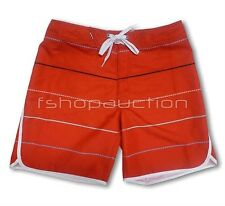 Oakley Retro Stripe Tomato Size 32 Mens Surf Red Boardies Board Shorts