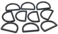 10x D-Ringe-Halbringe Kunststoff schwarz 25mm. Für 25mm Bänder/Gurte