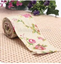 Vintage Shabby Chic English Rose Hessian ribbon for wedding, Crafts, Decoration