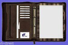 7205 Ringbuch-Schreibmappe A4 mit Reißverschluss Vintage Rind-Leder