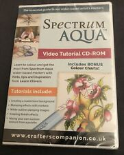 Crafters Companion Spectrum Aqua Watercolour Video Tutorial CD-Rom CD-S-AQUA