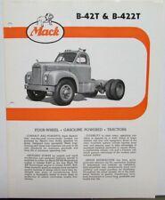 1961 Mack Trucks Model B 42T B 422T Diagram Dimensions Sales Brochure Original