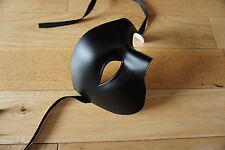 Mens BLACK Venetian Phantom/Half face Mask.Masquerade /Ball /Prom.UK POST