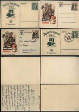 1940-41 Four GERMANY POSTAL STATIONERY CARDS used and mint