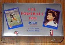1991 JOGO ~ CFL FOOTBALL 220 Trading Cards Set BOX ~ NEW & FACTORY SEALED