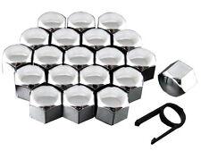 Set 20 17mm Chrome Car Caps Bolts Covers Wheel Nuts For BMW 5 Series E39 E61 E60
