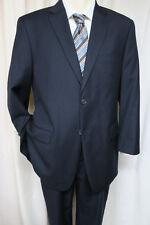 TOMMY HILFIGER Navy Stripe Suit 43R 2 button dual vents 100% wool