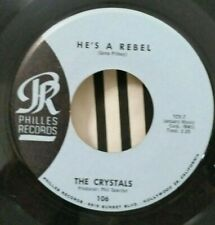 Crystals Philles 106 HE'S A REBEL (GREAT SOUL 45) PLAYS GREAT!