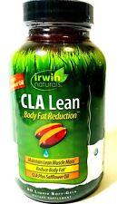 Irwin Naturals CLA Lean Body Fat Reduction 80 Liquid Soft Gels Exp Feb/2021
